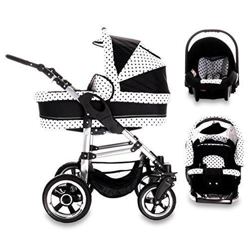 Bebebi London | 3 in 1 Kinderwagen Set | Luftreifen | Farbe: Big Ben