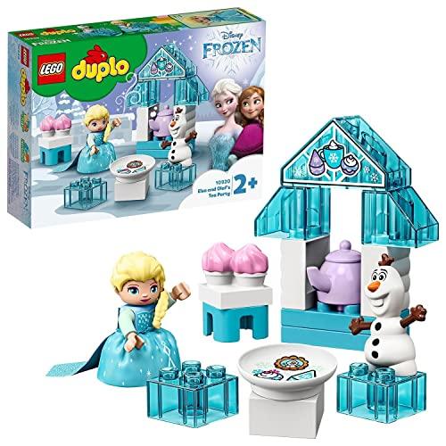 LEGO 10920 DUPLO Princess Frozen II Elsas und Olafs EIS-Café Spielset mit großen Steinen, Cupcakes und Einer Teekanne, für Kleinkinder ab 2 Jahren