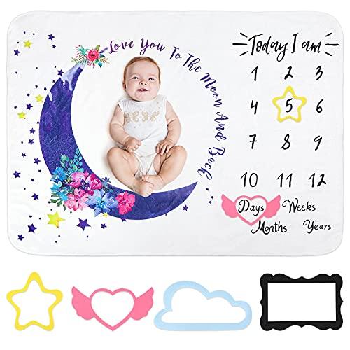Meilenstein Deck Baby Monatsdecke Junge Deck Baby Monat Mit Europäischem Design - Die Baby Meilenstein Decke als Foto Hintergrund mit Natur- und Kindermotiven - Baby Geschenk für Jungen&Mädchen