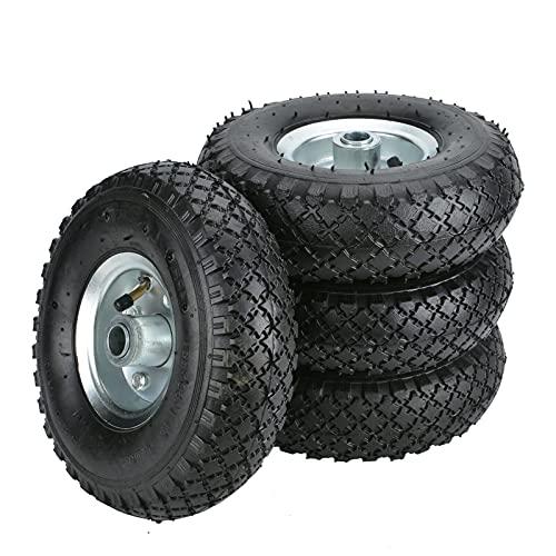 ColdShine 4PCS Sackkarrenrad Luftbereifung Ersatzrad Reifen Sackkarre PU Rad 260 x 85 mm für Bollerwagen