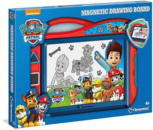 Clementoni 15112 Zaubertafel Paw Patrol, magnetische Maltafel zum Zeichnen und Malen, lösch- & wiederverwendbar, mit 3 Schablonen, Kreativspielzeug für Kinder ab 4 Jahren