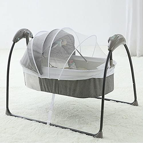 Elektrische Babywippe mit Fernbedienung Automatik Babyschaukel Babybett 0-12 Monate 3 Gang +Musik+Fernbedienung