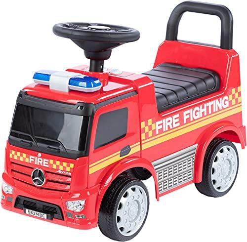 Rutschauto Mercedes Feuerwehr Fire Truck Rutscher mit Licht und Sound ab 1 Jahr