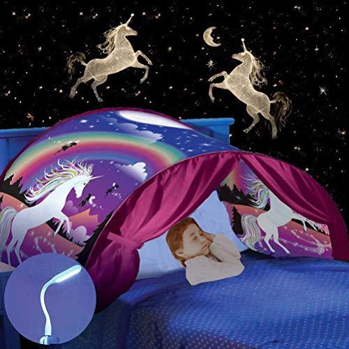 Nifogo Traumzelt Bettzelt - Spielzelte Bettzelt, Geeignet für den Einsatz im Raum den Stil den Kinder Mögen (Einhorn)