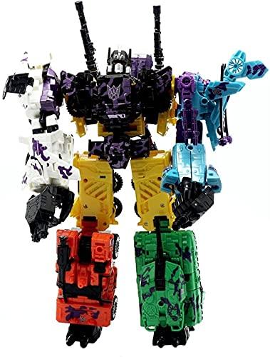 ZBRO Transformatorenkrieg für Cybertron Tránsförmérs Spielzeug, Zeitlose Großfigur,6 in 1 Autobots Defensor Combiner-Sets, für Kinder ab 6 Jahren Kinder Birthday Gift Optimus Prime