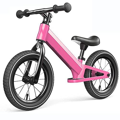 YMDA Laufrad, 12 Zoll leichte Sitzhöhe verstellbar, Gummiluftreifen, Rutschfester Fahrradgriff mit Pedalen, leichtes Fahren,