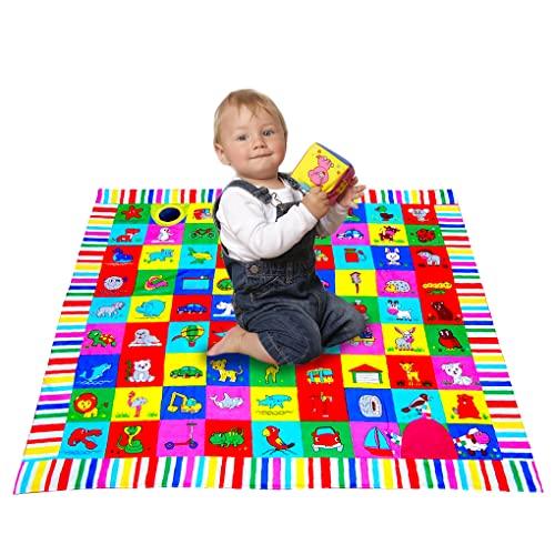 magdum Babyspieldecke'Meine kleine Welt' - baby erlebnisdecke - baby spielbogen für babys - baby spielzeug ab 3 monate - Motorikspielzeug Baby ab 6 monate Babyspielzeug - spielbogen baby spiele
