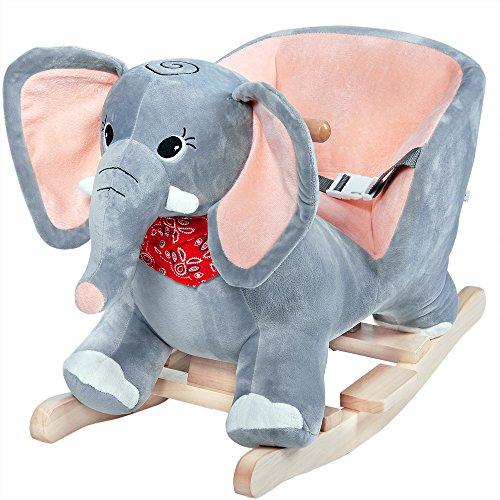Schaukelelefant mit Sound-Geräuschen