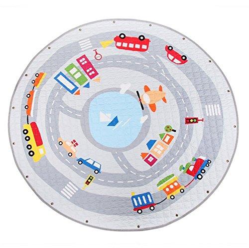 Kinder Krabbeldecke Kinderteppich Aufräumsack Spieldecke Spielmatte Spielzeug Speicher Tasche Kinderteppich Aufbewahrungsbeutel/Spielzeugaufbewahrung für Kinderzimmer