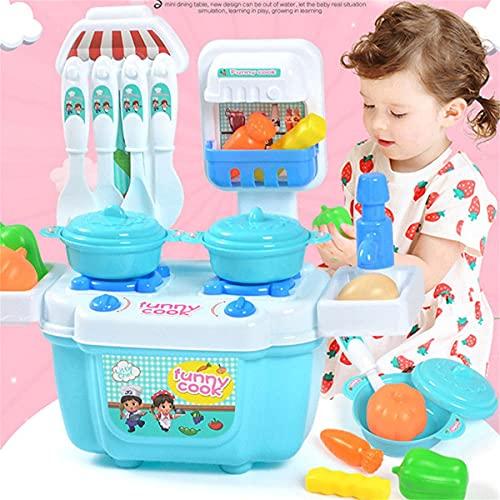 1 Set/22-teiliges Küchenspielzeug-Set für Kinder, Mädchen, Rollenspielspiel-Spielzeug-Set – Mini-Küchengeschirr, Kochgeschirr, pädagogisches Geschenk, Mädchen, Jungen, Kleinkinder, Kochutensilien