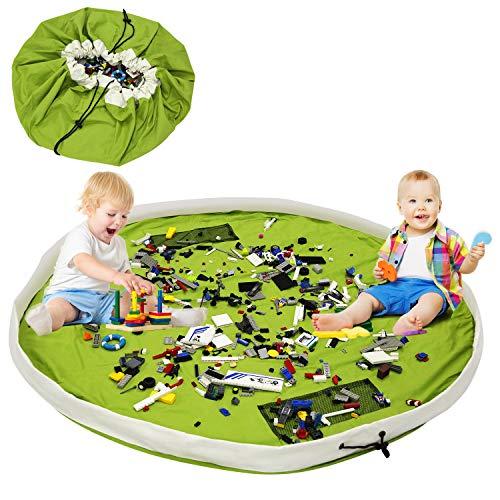 LEADSTAR Kinder Spielzeug Aufbewahrungstasche, Aufräumsack für Spielzeug Faltbare Teppich Tragbare Organizer Spielzeug Kinder Spielmatte, Ideal für Aufbewahrung von Spielzeug