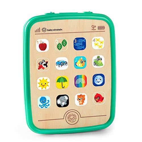 Baby Einstein Hape Magic Touch Tablet Musikspielzeug aus Holz mit über 150 Melodien und 3 Sprachen(Englisch, Französisch und Spanisch), ab 6 Monaten