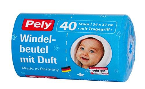 pely 5447 Windelbeutel mit Duft und Tragegriff, 40-Stück