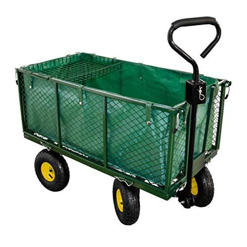 Talk-Point Handwagen, Gartenwagen, Bollerwagen, Transportwagen bis 550Kg belastbar - Luftbereifung - herausnehmbare Innenplane