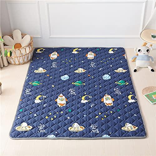 Kinder Baby Krabbeldecke Faltbare, Hiseng Baumwolle Groß Spielmatte Kinder Teppiche Rutschfeste Baby Bodenmatte Waschbare Krabbelmatte für Outdoor Spielteppich (Platz,120 * 200cm)