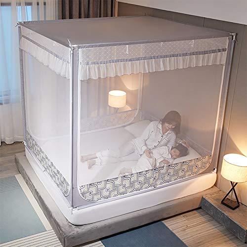 TADYL Zelt mit Boden, Bettzelt Fallfestes Klappdesign für Schlafzimmer und Ausflüge im Freien, Betten unterschiedlicher Größe zu waschen