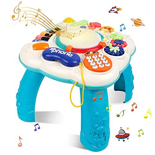 STOTOY Baby Musical Lernspaß Spieltisch,Musikalische Aktivitätstabelle für Kleinkinder,36 Monate + Musikalischer Lerntisch für Kinder,Baby-Spielzeug für die frühe Bildung, Geschenk für Jungen&Mädchen