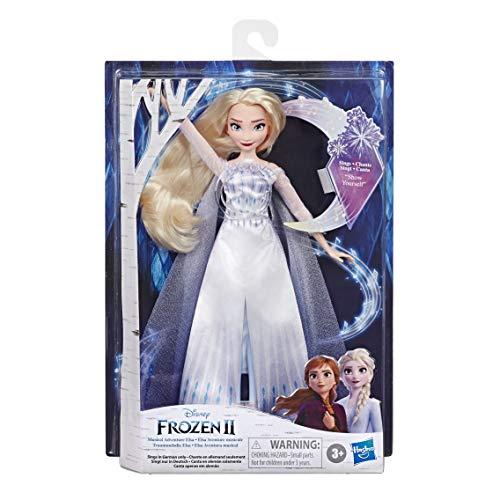 """Hasbro E8880XG0 Disney Die Eiskönigin Traummelodie ELSA singende Puppe, singt das Lied """"Zeige Dich"""" aus dem Disney Film Die Eiskönigin 2, Spielzeug für Kinder"""