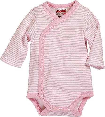 Playshoes Wickelbody Ringel Kleidung, Rosa (Weiß / Rose), 50 Unisex-Kinder