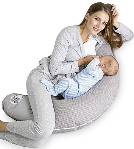 Sei Design Stillkissen Schwangerschaftskissen XL, Füllung: schadstoffgeprüfte 3-D EPS-Mikroperlen - anschmiegsam wie Sand und dennoch leicht wie Federn, Made in Germany