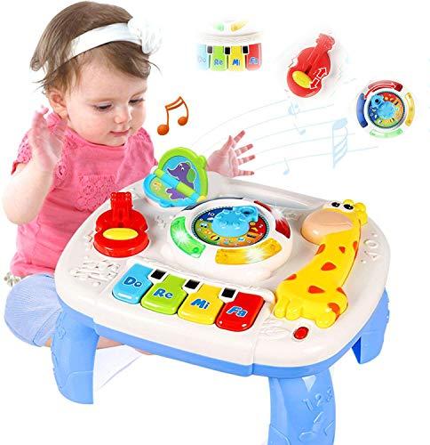 ACTRINIC Musiktisch für Babys, 6 bis 12 Monate, Bildungsspielzeug, Temprana, Musikspielzeug, Spieltisch für Kinder von 1 2 3 Jahren, Geräusche und verschiedene Lichter
