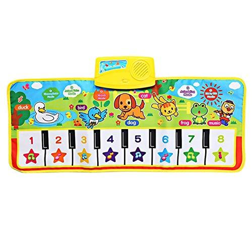 XJL Tanzdecke Tanzen Mat 71X28cm Baby-Englisch Musical Klaviermusik Teppich Baby-Kind-Spiel-Matte Decke Educational Elektronisches Baby-Spielzeug Geschenk