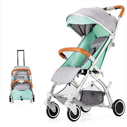 PRG Faltbarer Kinderwagen, Buggy, Reisebuggy, Kinderbuggy, Regenverdeck, Einhand-Faltmechanismus, für Flugzeug Kinderwagen mit Gepäckgriff beim Zusammenklappen, ab 0 Monate -3Jahre