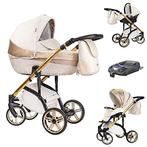 Kinderwagen Komplettset 4 in 1 VIP LUX Iso Base in 16 Farbdesigns