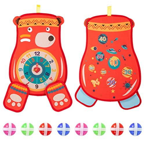 Dartspiel für Kinder, Sport-Spiele für Kinder, Dartscheibe für Kinder mit klebrigen Bällen, Dartscheiben-Set für drinnen und draußen, Spielzeug, Geschenke für Kinder, Jungen und Mädchen