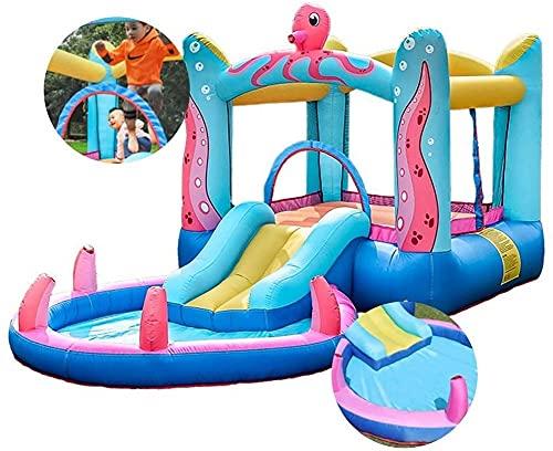 ZGYZ Hüpfburgen Hüpfburgen Octopus Blow Up Castle Indoor Trampolin Rutsche Ocean Ball Pool Naughty Castle Spielzeug Geeignet für Parks Schwimmbäder Innenhöfe