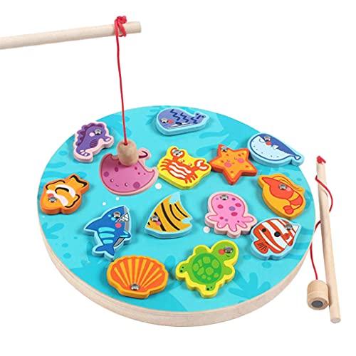 Hellery Magnetisches Angelspiel Spielzeug Magnetische Fischfische Game Spielset Kinder Frühe Pädagogische Spielzeug - Anzahl