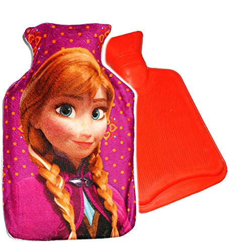 alles-meine.de GmbH Wärmeflasche -  Disney die Eiskönigin - Frozen - Anna  - 0,75 Liter - mit extra weichen Plüsch Bezug - Wärmflasche - wärmen + kühlen - Kinderwärmflasche - W..