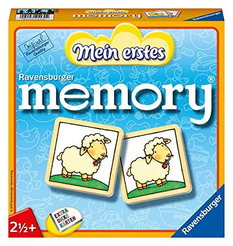 Ravensburger 21130 - Mein erstes Memory - Merk- und Suchspiel für die Kleinen - Spiele für Kinder ab 2½+ Jahren, Bildpaare bilden