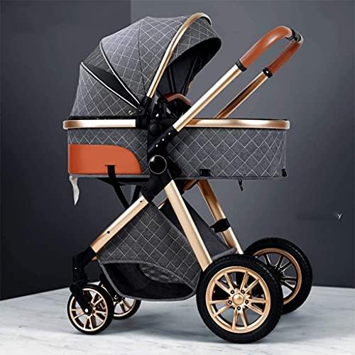TOKUJN Leichte Kinderwagen, Kinderwagen, Hochleistungswagen, Luxus-Kinderwagen, Aluminium-Kinderwagen, kompakte Klappwagen, Baskusstempel (Color : B)
