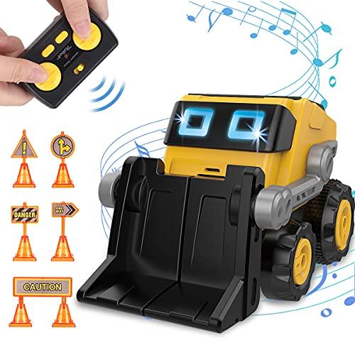 REMOKING Roboter Spielzeug für Kinder, Programmierbarer Roboter Spielzeug, RC Spielzeug Roboter mit Ton und Licht, Spielzeug Roboter ab 3 Jahre