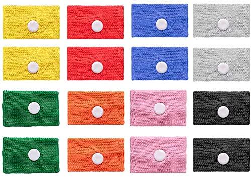 iwobi 8 Paar Akupressur Armband, Anti-Übelkeit Armbänder für Seekrankheit Schwangerschaft Fliegen Reiseübelkeit