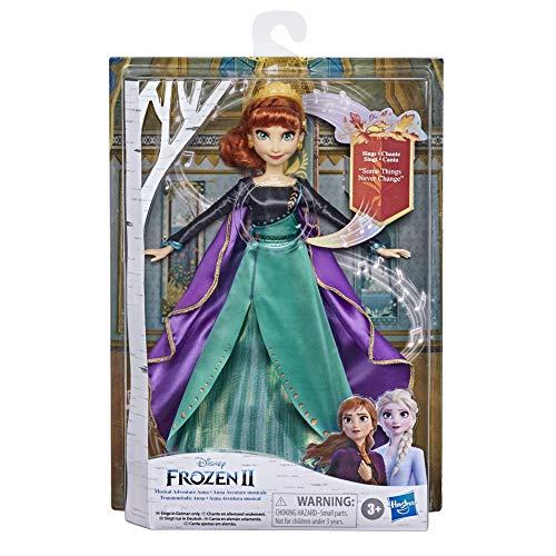 """Disney E8881XG0 Eiskönigin Traummelodie Anna singende Puppe, singt das Lied """"So Wird`s Immer Sein"""" aus dem Disney Film Die Eiskönigin 2, Spielzeug für Kinder"""