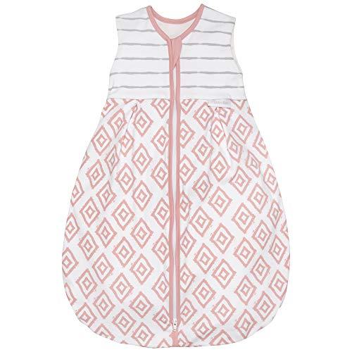 Premium Baby Schlafsack Sommer, Bequem & Atmungsaktiv, 100% Bio-Baumwolle, OEKO-TEX Zertifiziert, Flauschig Weich, Bewegungsfreiheit, 1.0 TOG von emma & noah (Rauten Rosa, 70cm (68/74))