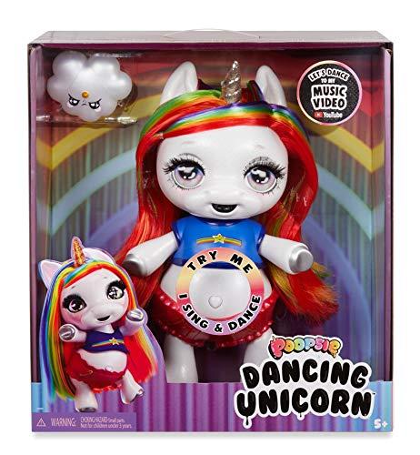 Poopsie Tanzendsr Einhorn-Regenbogen Brightstar - Tanzende & singende Einhorn-Puppe - Batteriebetriebenes Haustierspielzeug für Kinder
