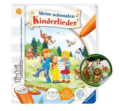 Collectix Ravensburger tiptoi ® Buch   Meine schönsten Kinderlieder + Kinder Tier-Sticker, Liederbuch ab 4 Jahren