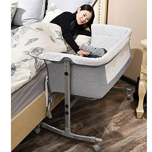 TXTC Leichte Baby-Beistellbett, Bettschwelle Für Mit Abnehmbarer Seitenwand, Babybettschwelle, Komfortables Babybett Für Zuhause (Color : Grey, Size : Standard)