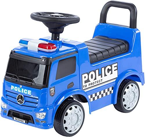 Rutschauto Mercedes Police Truck Polizei Rutscher mit Licht und Sound ab 1 Jahr