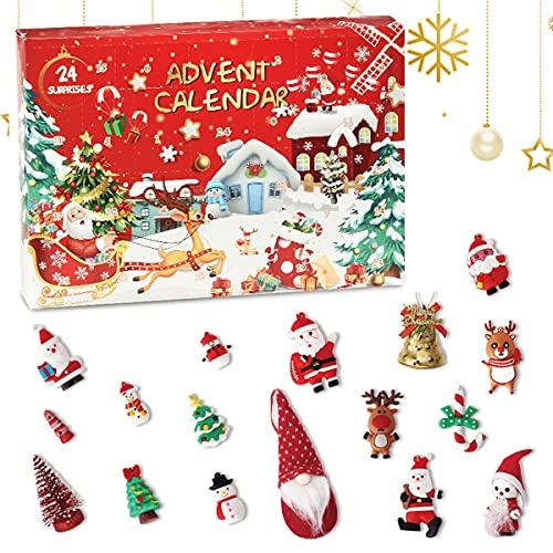 Gpoty Adventskalender 2021 Spielzeug Set 24 Stück Kleine Sachen Weihnachten Deko Kinder Mädchen Jungen ab 3 Jahren