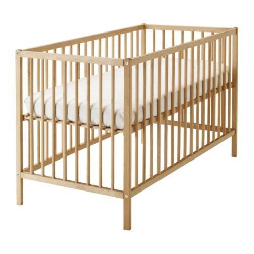 IKEA verstellbares Babybett SNIGLAR Bettchen in 60x120cm Gitterbett aus massiver Buche höhenverstellbar