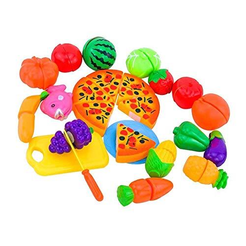 Schneide-Spielzeug für die Küche, Obst, Gemüse, Spielzeug-Set, Kunststoff, Lebensmittel-Spielzeug, Spielzubehör für Kinder, zufällige Farbe, hervorragende Qualität und kreativ