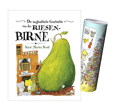 Die unglaubliche Geschichte von der Riesenbirne (Band 1) + Musik-Wimmelposter, Bilderbuch für Kinder ab 2 Jahren