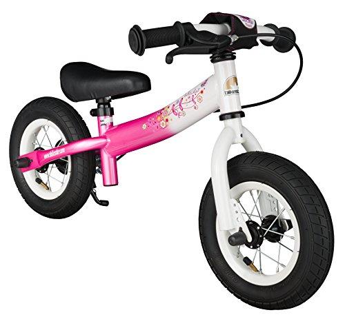 BIKESTAR Kinder Laufrad Lauflernrad Kinderrad für Mädchen ab 2 - 3 Jahre | 10 Zoll Sport Kinderlaufrad | Pink & Weiß | Risikofrei Testen