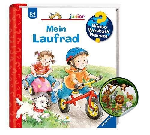 Buchspielbox Wieso? Weshalb? Warum? junior: Mein Laufrad (Band 37) + Kinder Tier-Sticker | Kinderbuch ab 2 Jahren