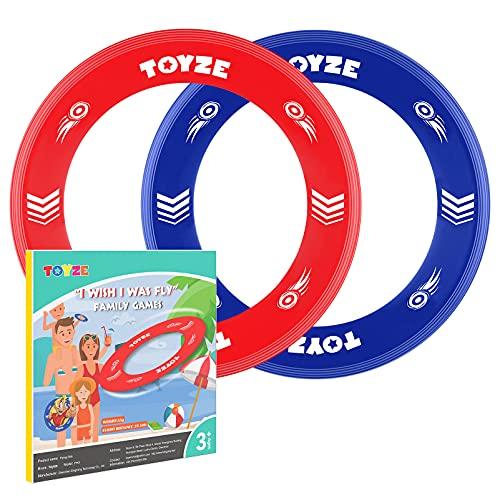 Toyze Flying Ring Kinder, Kinder Spielzeug Jungen 3-12 Jahre Geschenke für Mädchen 3-12 Jahre Spielzeug für Draußen Flying Disc Spielzeug Mädchen 3-12 Jahre gartenspielzeug Kinder draussen