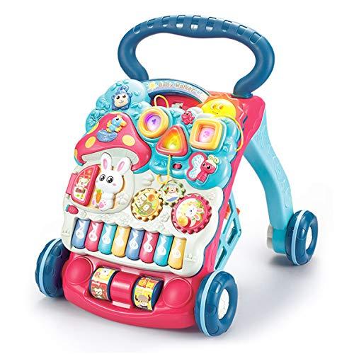 KAILUN 2 in 1 Lauflernhilfe, Kinder Laufrad Mit Musik & Licht, Lauflernwagen Mit Rutschfesten Rädern Und Verstellbare Geschwindigkeit, Lauflernrad Für Baby Von 6-36 Monaten